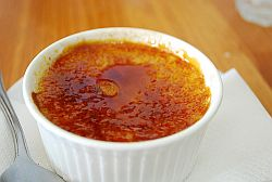 creme brulee with caramelized sugar