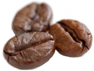 carbon dioxide in roasted coffee beans