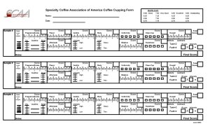 SCAA cupping form