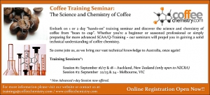 The Chemistry of Coffee Seminar Coming to Australia